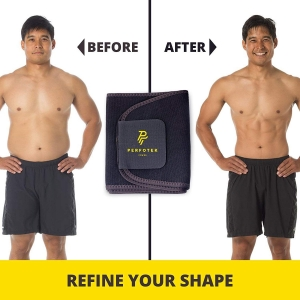 Perfotek Waist Trimmer Belt before after